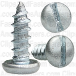 "#8 X 1/2"" Zinc Slotted Pan Head Tapping Screws"
