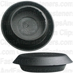 Flush Sheet Metal Plug Plastic 3/4 Hole Black