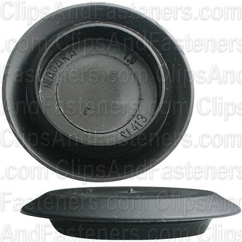 Flush Sheet Metal Plug Plastic 1 Hole Black