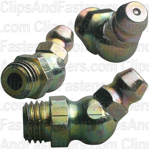 Grease Fitting 8mm-1.0 45Deg Din 71412 (7445)