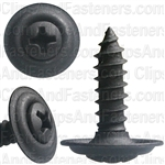 "#8 X 5/8"" Phillips Oval #6 Head Sems Countersunk Washer Black Phosphate"