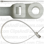 13 In 120 Lb Nylon Cable Ties W/Hole- Natural