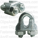 "Nipper Wire Rope Clip 1/4"" Dia. - Galvanized"