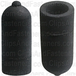 Rubber Vacuum Cap Black For 3/8 Dia.