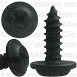 #8-18 X 1/2 Phillips Flat Top Washer Head Screws Black E-Coat