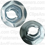 Thread Cutting Nut 6.3mm Stud Size - Zinc