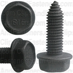 8-1.25 X 25mm Hex Washer Hd - Black Polyseal