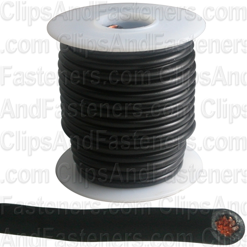 Plastic Primary Wire Black 25' 14 Gauge