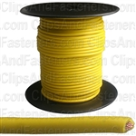 Plastic Primary Wire Yellow 100' 18 Gauge