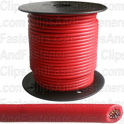 Plastic Primary Wire Red 100' 14 Gauge