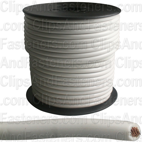 Plastic Primary Wire White 100' 12 Gauge