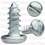"#6 X 3/8"" Zinc Slotted Pan Head Tapping Screws"