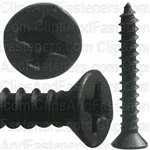 "#6 X 1"" Phillips Flat Head Tapping Screw Black Oxide"
