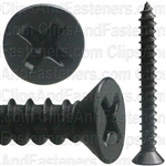 "#8 X 1-1/2"" Phillips Flat #6 Head Tapping Screw Black Oxide"