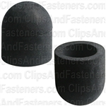 Rubber Vacuum Cap Black For 1/2 Dia.