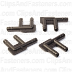 Nylon F Connector 3/16 X 3/16 X 3/16