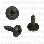#6 X 1/2 Phillips Flat Top Washer Head Screws Black E-Coat