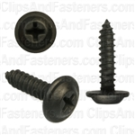 #10 X 3/4 Phillips Flat Top Washer Head Screws Black E-Coat