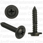 #10 X 1 Phillips Flat Top Washer Head Screws Black E-Coat