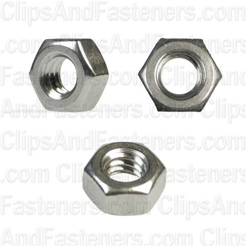 1/4-20 Hex Nuts 18-8 Stainless Steel