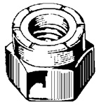 6-32 Nylon Insert Lock Nut 18-8 Stainless Steel