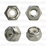 8-32 Nylon Insert Lock Nut 18-8 Stainless Steel