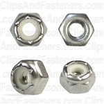 10-24 Nylon Insert Lock Nut 18-8 Stainless Steel
