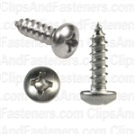 6 X 1/2 Phillips Pan Head Tap Screw 18-8