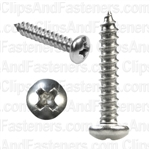 6 X 3/4 Phillips Pan Head Tap Screw 18-8
