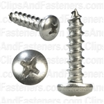 10 X 3/4 Phillips Pan Head Tap Screw 18-8