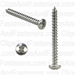 10 X 1 3/4 Phillips Pan Head Tap Screw 18-8