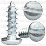 "#12 X 3/4"" Zinc Slotted Pan Head Tapping Screws"