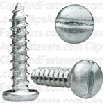 "#12 X 1"" Zinc Slotted Pan Head Tapping Screws"