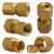 Brass Female Connector 5/16 Tube Size 1/8 Thread