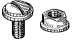 1/4-20 X 5/8 Nat.Nylon L.P. Screw & Nut