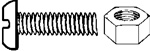 Nylon License Plate Screw & Nut M6-1.0 X 20mm