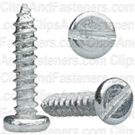 "#6 X 5/8"" Zinc Slotted Pan Head Tapping Screws"