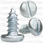 "#8 X 3/8"" Zinc Slotted Pan Head Tapping Screws"