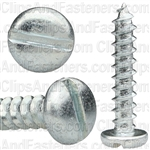 "#10 X 1"" Zinc Slotted Pan Head Tapping Screws"