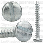 "#10 X 1-1/2"" Zinc Slotted Pan Head Tapping Screws"