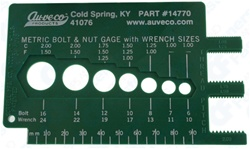 Metric Bolt & Nut Gauge