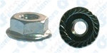 "#10-24 USS Spin Lock Nuts With Serrations 1/2"" Flange"