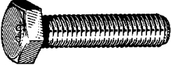 Cap Screw Din 931 M10-1.50 X 80mm Zinc