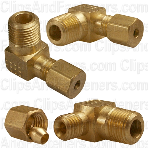 Brass Male Elbow 1/8 Tube Size 1/8 Thread