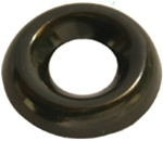 #6 Countersunk Brass Finish Washer Blk Zinc
