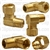Brass Male Elbow 3/8 Tube Size 1/4 Thread