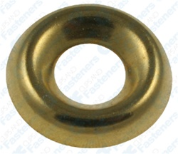 #10 Brass Countersunk Washer - Plain
