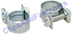 "Type G Minihose Clamps 8mm-9.5mm (5/16""-3/8"")"