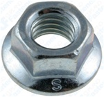 M8-1.25 Metric Spin Lock Nuts With Serrations 17mm Flange