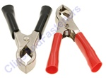 30 Amp Test Clips Black And Red Insulation